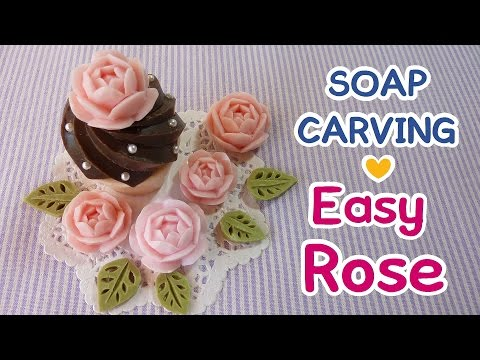 SOAP CARVING|Easy | Rose | How to make | DIY |