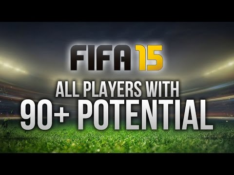 FIFA 15: ALL PLAYERS WITH 90+ POTENTIAL ON CAREER MODE!