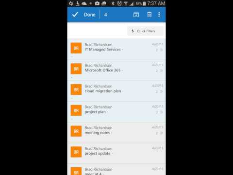 How to delete or file multiple emails in Outlook Mobile