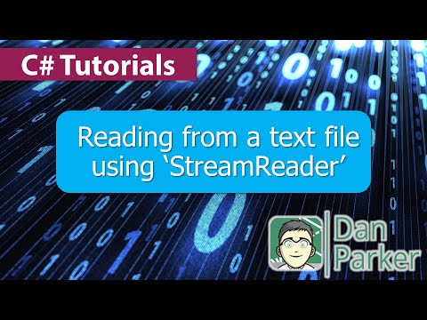 C# Tutorials : Reading from a text file using 'StreamReader'