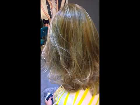 Ash green blonde Asian hair color