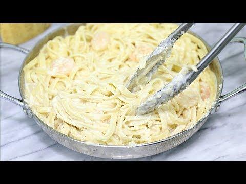 Shrimp Fettuccine Alfredo Recipe - Creamy Shrimp Alfredo Pasta