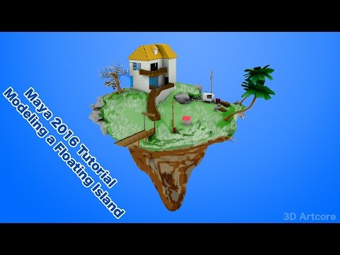 Maya 2016 Tutorial- How To Model an Island Part 33
