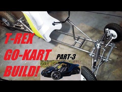 T-REX INSPIRED GO-KART!!!!   (part 3 steering)