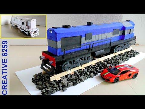 How To Make A Train Engine |Electric (DC) Motor |Using Cardboard | DIY Scale Model |RC Train (2 Way)