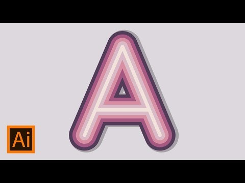 How to Make Multicolor Text Effect In Adobe Illustrator