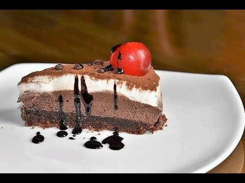 Triple layer chocolate mousse cake step by step || Triple chocolate mousse cake recipe