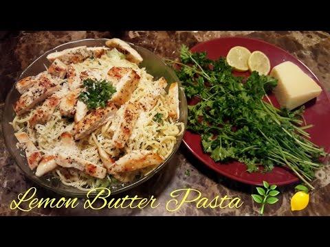 Lemon Butter Pasta + Chicken Recipe   Dalia Daisy♡