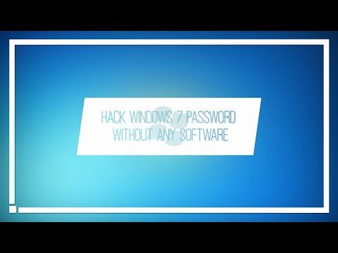 Hack windows 7 password without any software