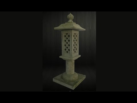 Making a concrete lantern with an asian flare