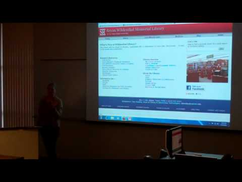 Library Resources for Graduate Students: Part 6