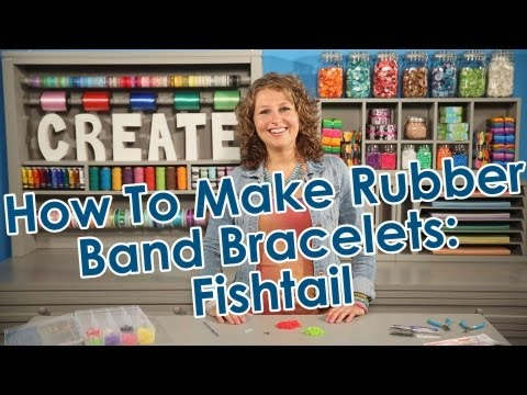 How to Make Rubber Band Bracelets - Fishtail