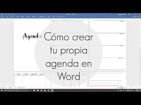 Cómo crear tu propia agenda en Word | Julieta Jareda