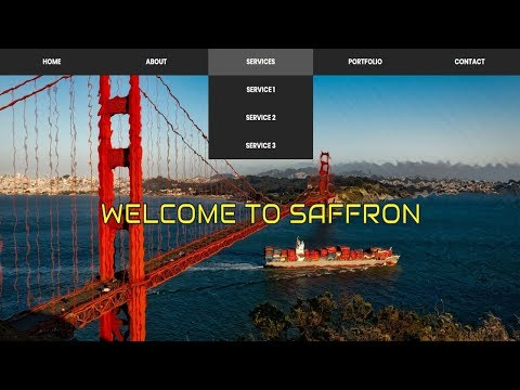 Water Ripple Effect Homepage with Flexbox Dropdown Menu | Water Ripple Effect on Background