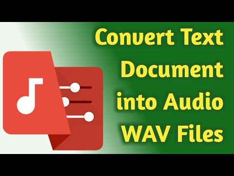 How to Convert Text Document into Audio WAV Files Using the Timbre Android Application in Tamil