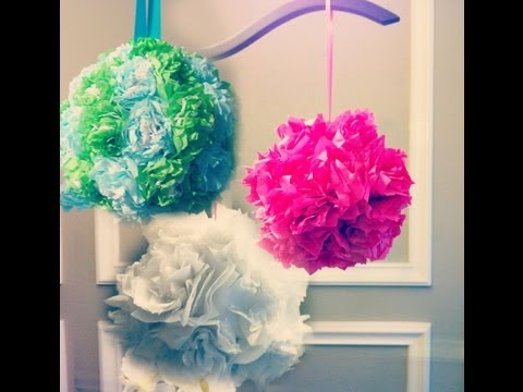 Tissue Paper Pomanders! How to make flower balls! DIY wedding decorations!