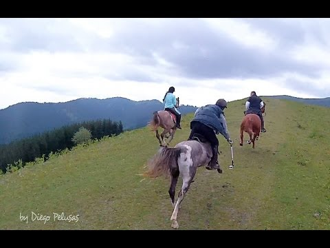 HORSE TRAIL RIDING to the Crazy Bear Cave. ASTAK 7500 PRO3