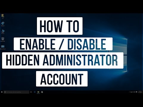 Windows 10 Tips & Tricks - How To Enable / Disable HIDDEN ADMINISTRATOR Account
