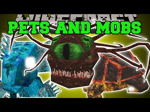 Minecraft: INSANE PETS AND MOBS (POWERFUL PETS WITH ABILITIES & SCARY MOBS!) Mod Showcase