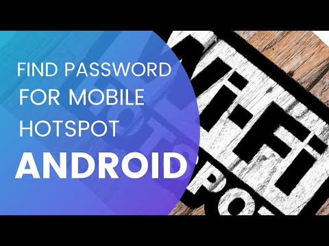 How to find the password for you mobile portable hotspot  on Android 4.2