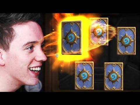Hearthstone: OPENING BOOSTER CARD PACKS! (Legendaries?!)