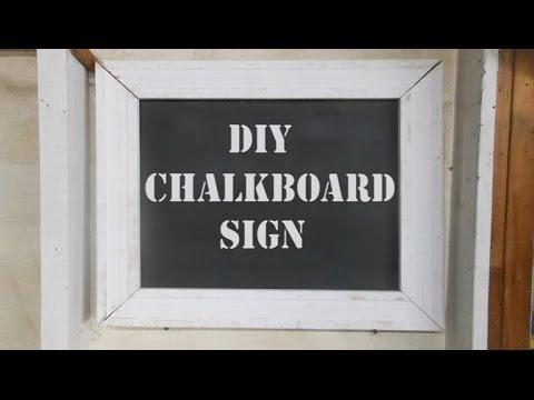 how to make a chalkboard sign shop price menu board