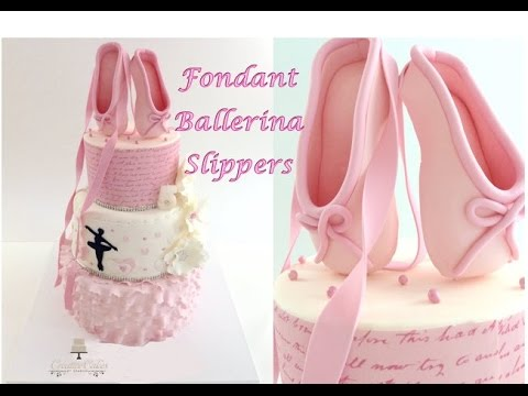 How to make Fondant Ballerina Slippers from Creative Cakes by Sharon