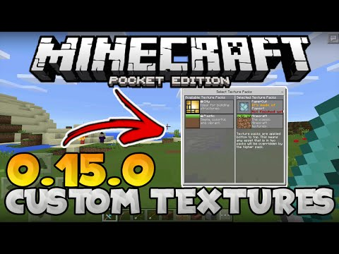 MCPE 0.15.0 // HOW TO INSTALL TEXTURE PACKS! - iOS& Android - Minecraft PE (Pocket Edition)