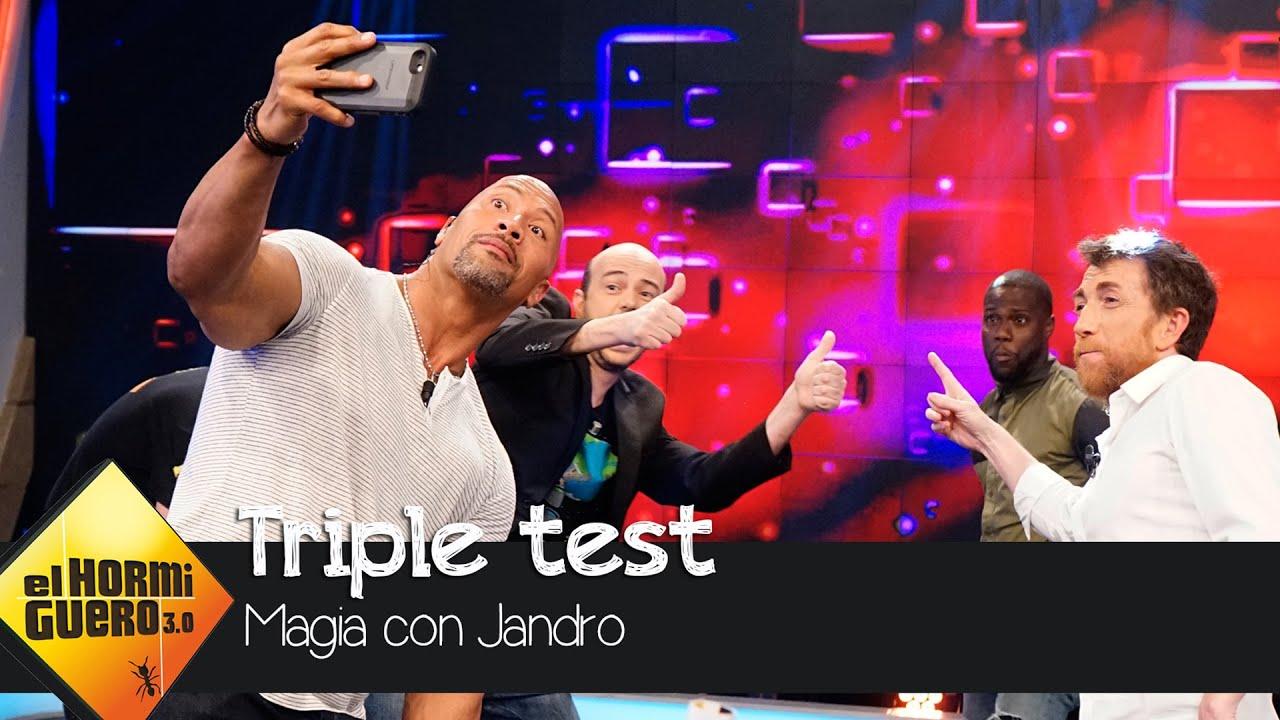 Jandro hace su test infalible a Dwayne Johnson y Kevin Hart - El Hormiguero 3.0