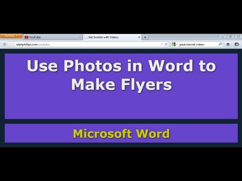 Use Photos in Word to Make Flyers