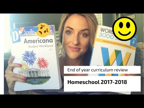 HOMESCHOOL YEAR IN REVIEW||CURRICULUM||WHAT I LOVED AND WHAT I DIDNT!