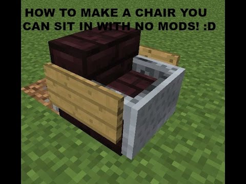 HOW TO MAKE A WORKING CHAIR! YOU CAN SIT IN! / NO MODS!