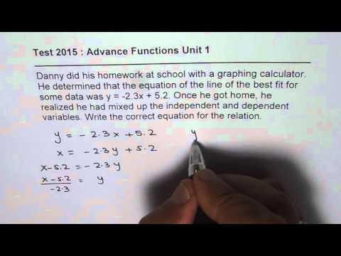 Inverse of Linear Function in Two Different Ways