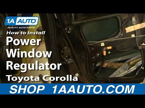 How To Install Replace Power Window Regulator Toyota Corolla 98-02 1AAuto.com
