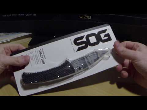 SOG Traction kife unboxing Rare tigerstriped blade