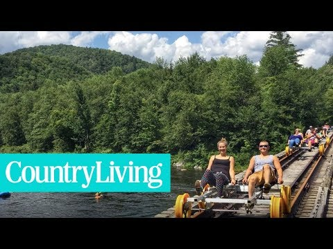 You Can Now Pedal Along the Railroad Tracks Through the Adirondacks | Town & Country