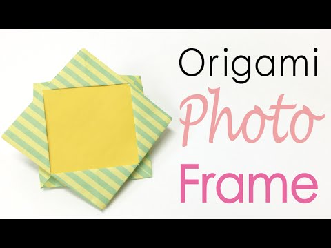 Easy☺︎ Origami Paper Photo Frame ✨DIY✨ - Origami Kawaii 〔#128〕