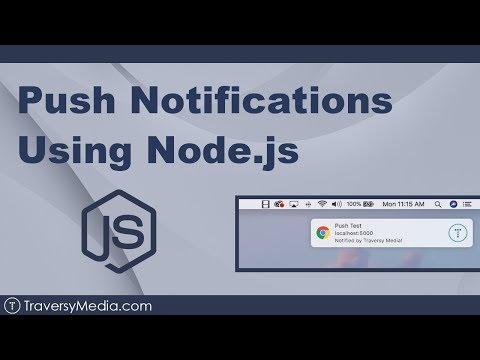 Push Notifications Using Node.js & Service Worker