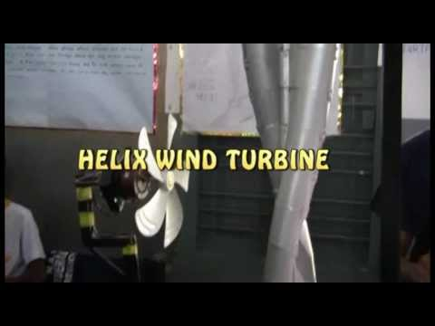 Renewable Energy - Helix Wind turbine - Production - Electricity Generation - Wind Power