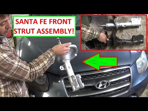 Hyundai Santa Fe Front Right Left Strut Shock Removal and Replacement 2007 2008 2009 2010 2011 2012