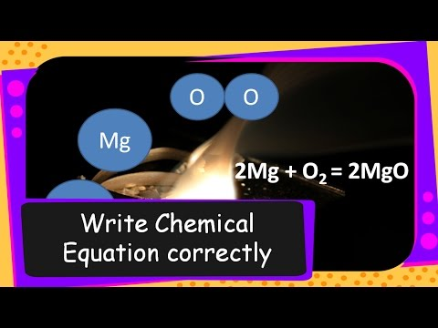Science - How to write Chemical Equation Correctly  - Part I - English