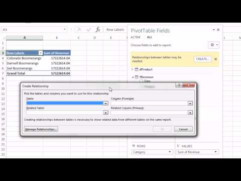 Excel Magic Trick 1151: Get Two Tables Into Pivot Table Field List using Excel 2013