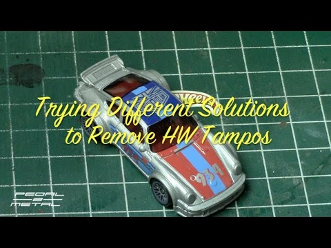 Trying Different Solutions for Hot Wheels Tampo Removal | DIY