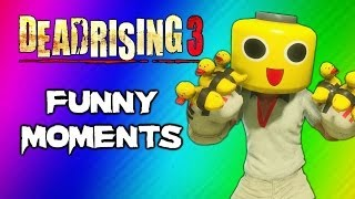 Dead Rising 3 Funny Moments Gameplay 3 - Invisible Zombie Glitch, Duck Gloves, Party Slapper Fun