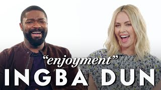 Charlize Theron and David Oyelowo Teach Afrikaans and Yoruba Slang   Vanity Fair
