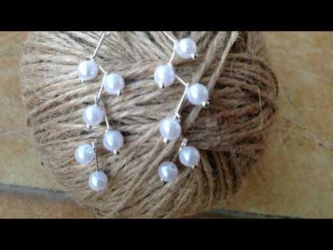 DIY Pearl Hanging Earrings|| Beaded Earring