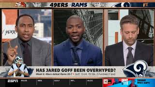 Stephen A. Smith questionable Has Jared Goff been overhyped?   First Take