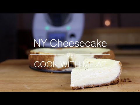 New York Cheesecake - NY Cheesecake Recipe baked on the Big Green Egg - COOK WITH ME.AT