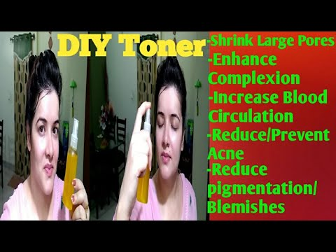 Homemade toner for spotless radiant skin.#Shrink large pores#Remove Acne/pigmentation.