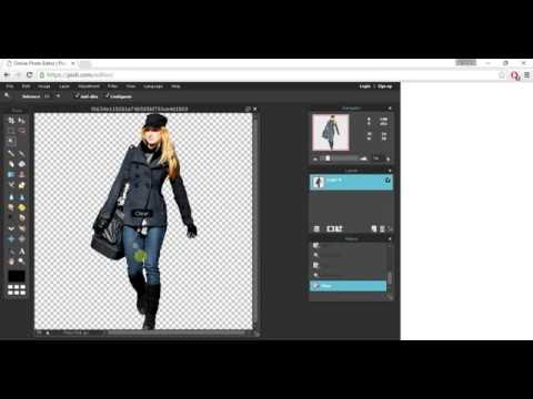 Photoshop Tutorial How to convert JPG image into PNG Format | No Background | Pixlr Editor